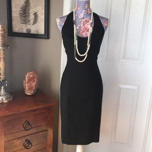Nicole Miller Black Halter Dress